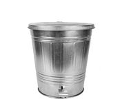 Steel trash can Stock Photography