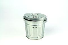 Steel trash can Royalty Free Stock Photos