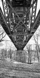 Steel Trestle Bridge Stock Photography