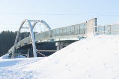 Steel truss arch bridge Stock Image
