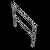 Steel truss girder element Stock Photography