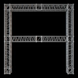Steel truss girder element Stock Photo