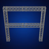 Steel truss girder element Royalty Free Stock Images