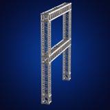 Steel truss girder element Stock Photos