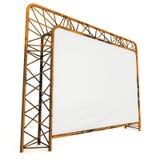 Steel truss girder element banner construction Stock Image