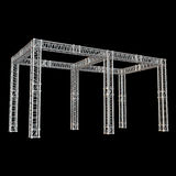 Steel truss girder rooftop construction Stock Photography