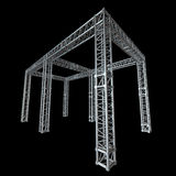 Steel truss girder rooftop construction Royalty Free Stock Photos
