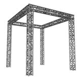 Steel truss girder rooftop construction Stock Photos