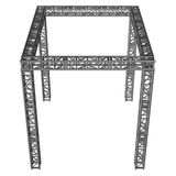 Steel truss girder rooftop construction Stock Images