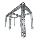 Steel truss girder rooftop construction Royalty Free Stock Images