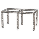 Steel truss girder rooftop construction Royalty Free Stock Photography