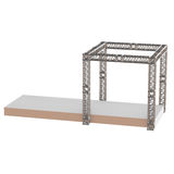 Steel truss girder rooftop construction. With outdoor festival stage. 3d render podium isolated on white Royalty Free Stock Image