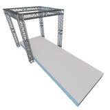 Steel truss girder rooftop construction Stock Photography