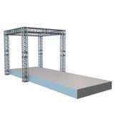Steel truss girder rooftop construction Royalty Free Stock Photo
