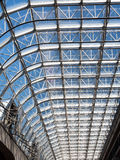 Steel Truss and Glass of Canada Place Stock Images
