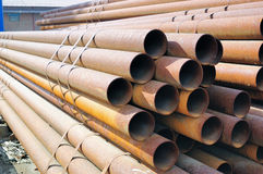 Steel tube. Some steel tubes in the factory Royalty Free Stock Image