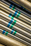 Steel tube background Royalty Free Stock Images