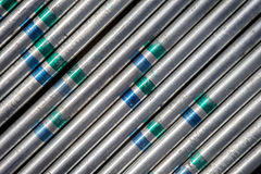 Steel tube background Stock Images