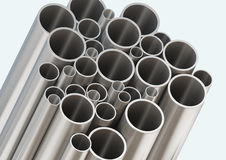 Steel tube,Pictures with Clipping Paths Stock Images