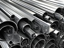 Steel tube Stock Image