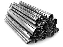 Steel tube. Steel Pipe, metal-roll (done in 3d Royalty Free Stock Photo