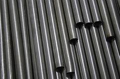 Steel tubes Royalty Free Stock Photo