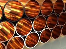 Steel tubing 3d Stock Image