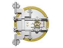 Steel vault door closed. Royalty Free Stock Photography