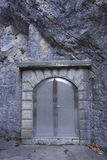 Steel Vault Door in Stone stock image