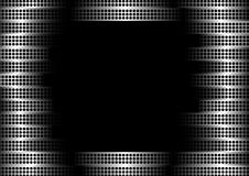 Steel vector frame. Abstract background with perforated steel frame stock illustration