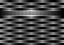 Steel vector pattern. Steel background with stripes and dots Stock Image