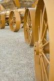 Steel Wagon Wheels Royalty Free Stock Photo