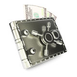 Steel wallet Royalty Free Stock Photography