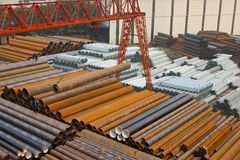 Steel warehouse Royalty Free Stock Image