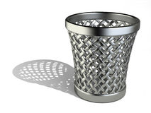 Steel wastepaper basket empty Stock Images