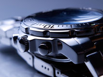 Steel watch Stock Photography