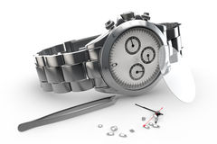 Steel watch Royalty Free Stock Images