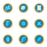 Steel weapon icons set, flat style. Steel weapon icons set. Flat set of 9 steel weapon vector icons for web isolated on white background Stock Images
