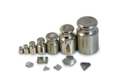 Steel weights Royalty Free Stock Images