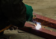 Steel weld Stock Photography