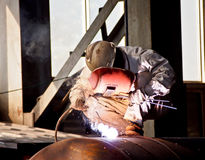 Steel welder at work 1 Stock Image