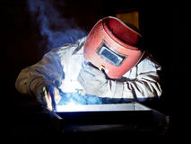 Steel welder at work 2 Royalty Free Stock Images