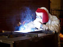 Steel welder at work 3 Stock Photography