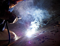 Steel welder at work 4 Stock Images