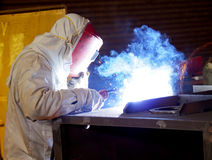 Steel welder at work 5 Stock Photos