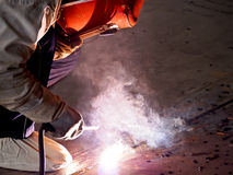 Steel welder at work 6 Royalty Free Stock Photography