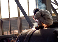 Steel welder at work 7 Royalty Free Stock Photography