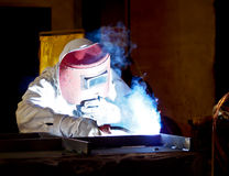 Steel welder at work 8 Stock Photo