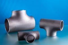 Steel welding fittings stock photos