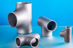 Steel welding fittings stock image